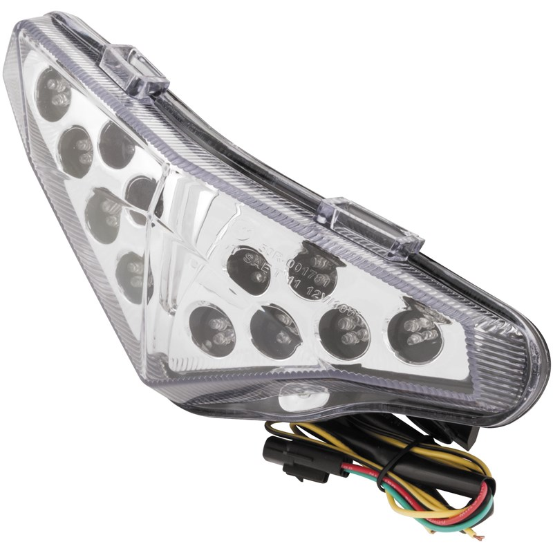 Smoke Integrated Tail Light LED Stop /& Turn Lights TZS-030-INT-S SV650 99-02