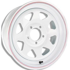 8 Spoke Steel Trailer Wheel
