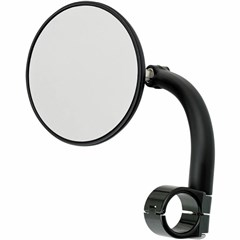 3-3/4in. Round Utility Mirror with Clamp-On Mount for 1in. Handlebar