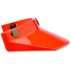 3-Snap Moto Visor - No Vent - Orange