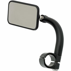 Rectangular Utility Mirror with Clamp-On Mount