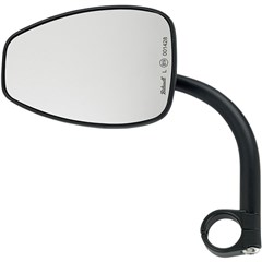 Teardrop Utility Mirror with Clamp on Mount for 1in. Bar