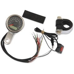 1-7/8in. Mini Programmable Electronic Speedometer w/ Indicator Lights
