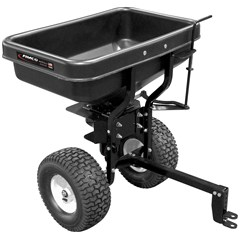 Adjustable ATV Dry Material Spreader
