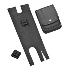 Compact EZ Carry Pouch for Saddlebags without Guard Rails
