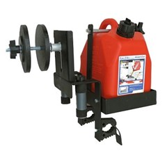 Auxilary Fuel Can, Spare Tire Mount and Tool Holder