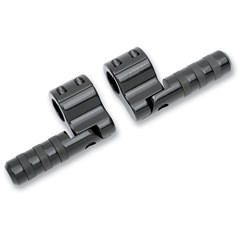 Black Anodized Clamp-On Wide Band Footpegs