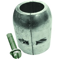 Clamp Shaft Anode with Slotted Screw