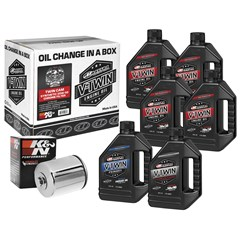 Twin Cam Synthetic Oil Filter Kit with Chrome Filter - 20W50