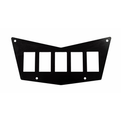 7 Slot Switch Plate - Black