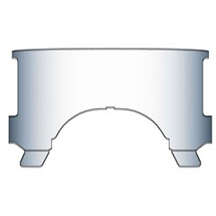 Replacement Notched Lower Windows for heavy Duty Windshields