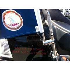 Antenna Flag Mount with Flag for Gold Wing