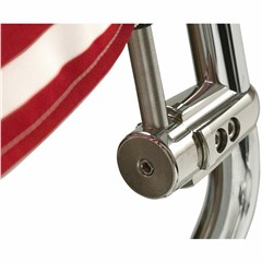 Flag Mount with USA Flag for .765in. Vertical Round Bar with Quick Release