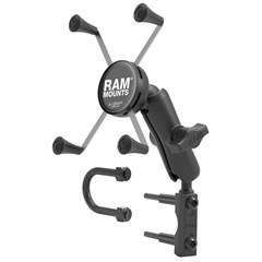 RAM Combination Brake/Clutch Reservoir Mount with Double Short Arm X-Grip Cell/iPhone Plus Cradle