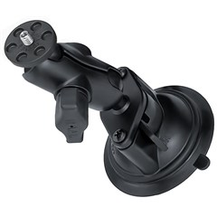 RAM Twist Lock Suction Cup Mount with Short Double Socket Arm & 1/4in.-20 Camera Threaded Adapter