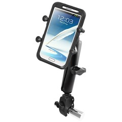 Tough-Claw Base with Long Double Socket Arm with Universal Grip Phone Holder