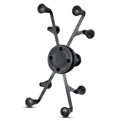 Universal X-Grip II Tablet Holder with 1in. Ball for Small Tablets