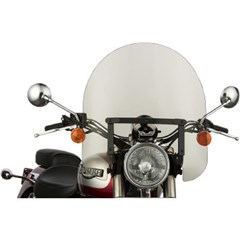 17in. Classic Windshield with Black Hardware