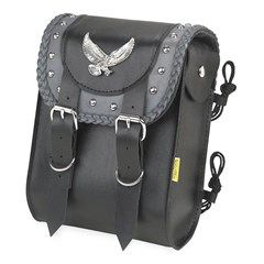 Gray Thunder Studded Sissy Bar Bag