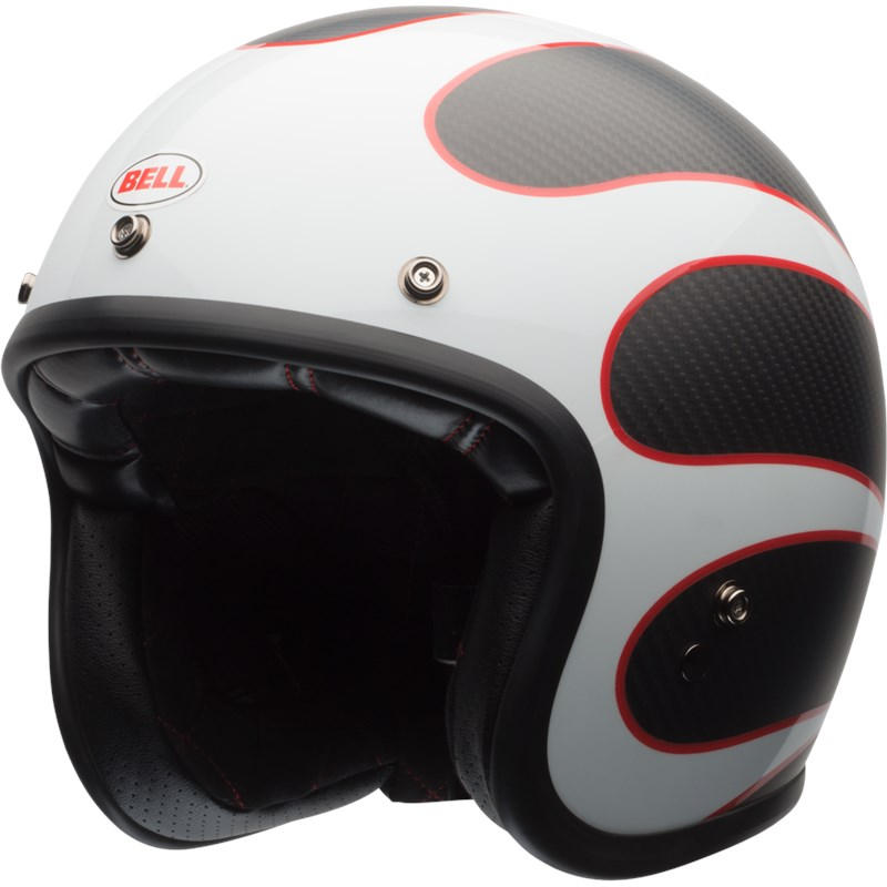 Custom 500 Carbon - Ace Café Gloss/Matte White/Black/Red Ton Up