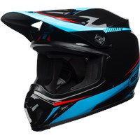 MX-9 MIPS - Gloss Black/Cyan/Red Torch