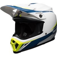 MX-9 MIPS - Gloss White/Blue/Yellow Torch