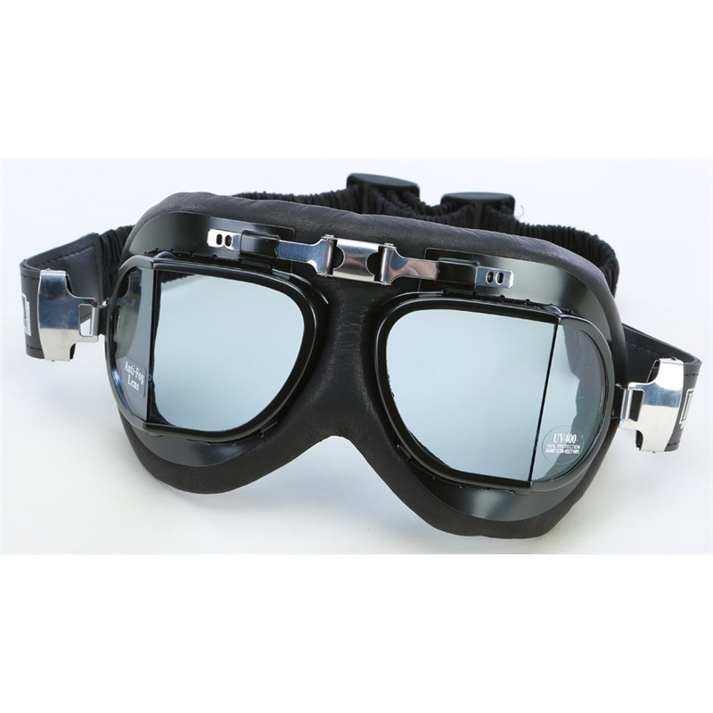 Classic Split Lens Leather Cushion Goggles