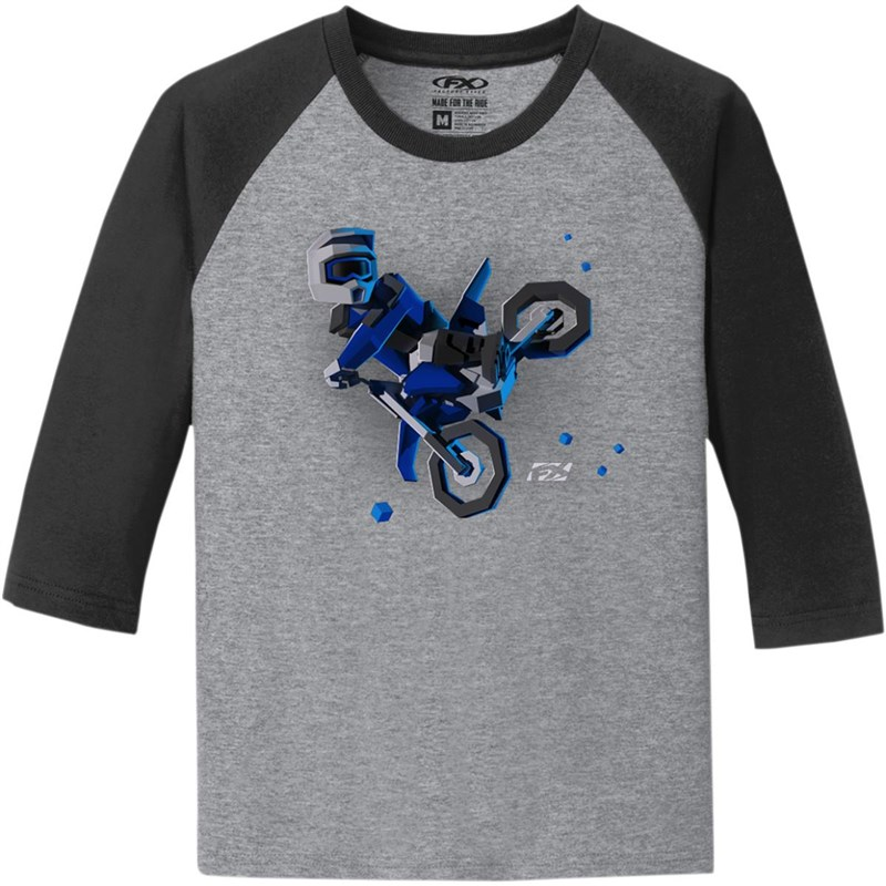 Moto-Kids Youth 3/4 Sleeve T-Shirt