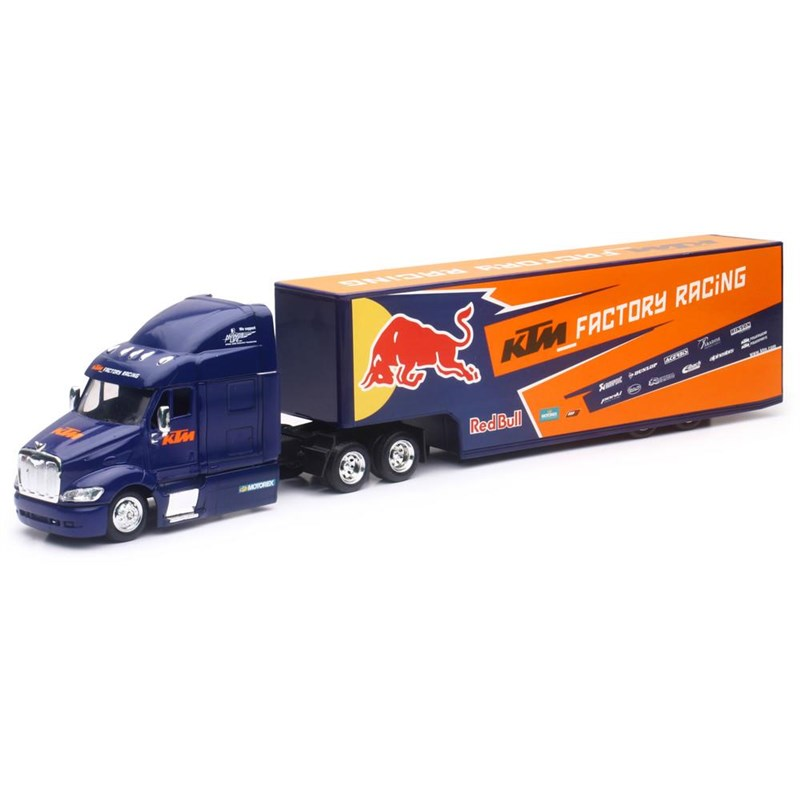 1:43 Scale Red Bull KTM Factory Racing Team Truck 2017