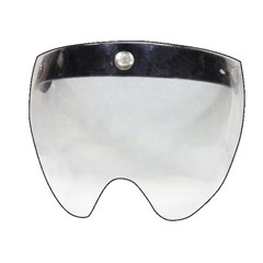 Vintage 3-Snap Flip Short Face Shield