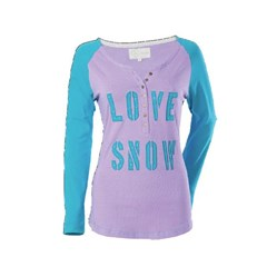 Love Snow Henley Long Sleeve Womens Shirt