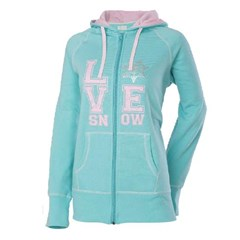 Love Snow Womens Zip Hoody