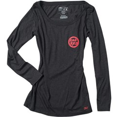 Honda Ride Red Womens Long Sleeve Shirts
