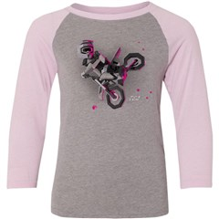 Moto-Kids Girls Youth 3/4 Sleeve T-Shirt