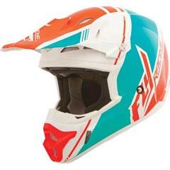 Visor for Kinetic Pro 2014 Canard Replica Helmet - White/Teal/Orange