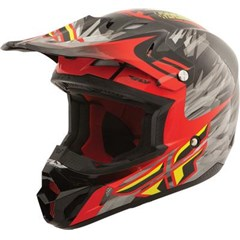 Visor for Kinetic Pro 2014 Short Replica Helmet - Black/Red/Lime