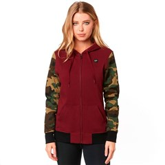 Everglade Camo Womens Zip Fleece Hoodies