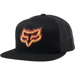 Flame Head Snapback Hat