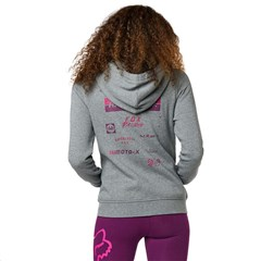 Sponsored Womens Zip Fleece Hoody