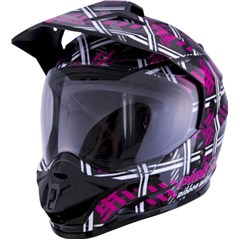 GM11D Dual Sport PRR Plaid Helmet