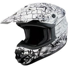 Visor for GM76X Street Life Graphic Helmet - White/Black/Silver