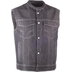 Club Collar Iron Sights Denim Vest