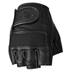 Half Jab Perforated Leather Gloves