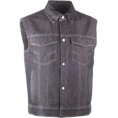 Traditional Collar Iron Sights Denim Vest