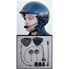 HS-BCD284-HJH-HO Performance Series Integrated Headset for HJC Half/H-D Shorty Helmets