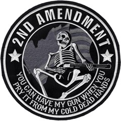 2nd Amendment Skeleton Embroidered Patch
