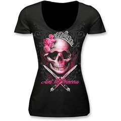 Aint No Princess Womens Scoop Neck Shirts
