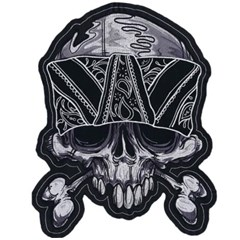 Cross Bones Bandana Embroidery Patch