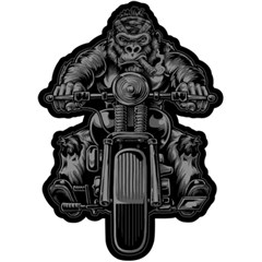Gorilla Biker Embroidered Patch