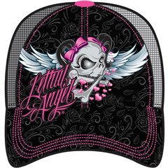 Lethal Angel Girl Skull Trucker Womens Hats